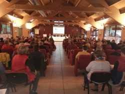 Vista della platea dei delegati
