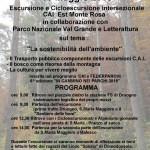 """13/05/2018 Escursione e Cicloescursione Intersezionale Est Monte Rosa a tema """"La sostenibilità dell´ambiente"""""""