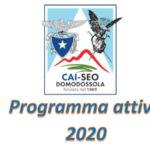 CAI SEO Domodossola progr. attività  2020